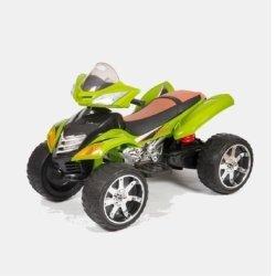Электроквадроцикл с пультом Quad Pro Sport зеленый (резиновые колеса, кожа, пульт, музыка)