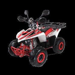 Детский квадроцикл бензиновый MOTAX ATV MIKRO 110 cc бело- красный  (пульт контроля, электростартер, до 45 км/ч)